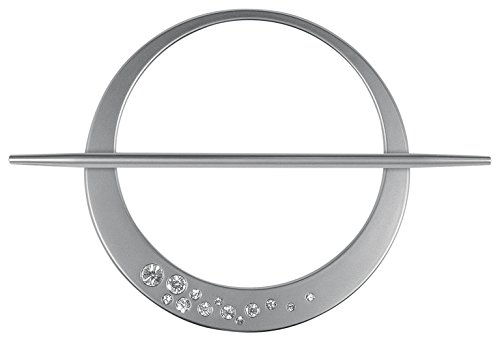Ruther & Einenkel Dekospange mit Kristallen, Edelstahl/Aufmachung 1 Stück, Kunststoff, 16 x 16 x 0.05 cm