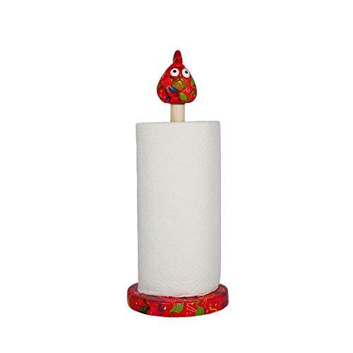 Pomme pidou Kip Matilda - Keukenrolhouder - Rood - Flamingo's