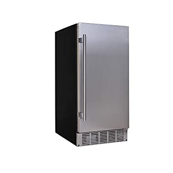EdgeStar IB250SS 15 Inch Wide 20 Lb Built-In Ice Maker with 25 Lbs Daily Ice Production - No Drain Required