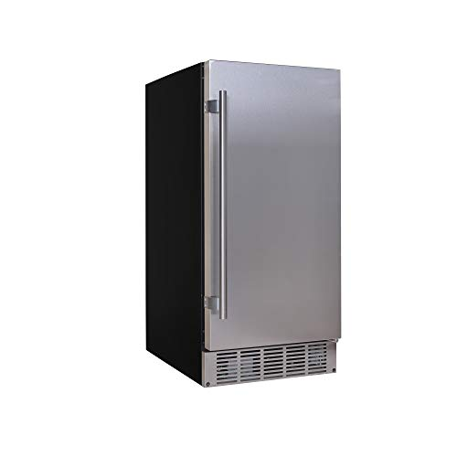 EdgeStar IB250SS 15 Inch Wide 20 Lb. Built-in Ice Maker with 25 Lbs. Daily Ice Production - No Drain Required