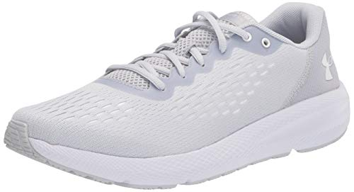 Under Armour womens Charged Pursuit 2 Special Edition Running Shoe, Halo Gray (100 White, 5.5 US