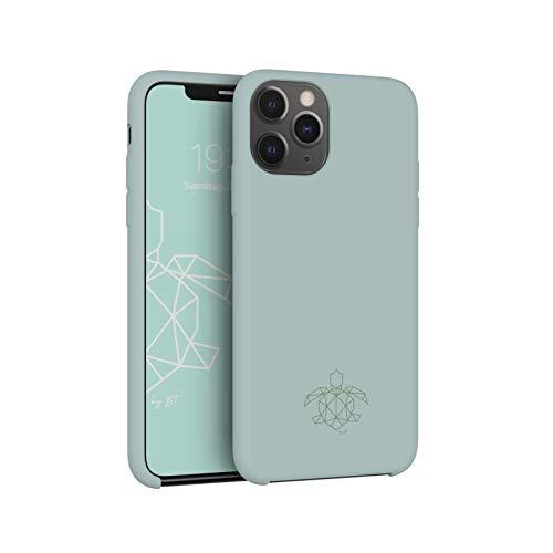turtleandcase Hülle Kompatibel mit iPhone 11 Pro und kostenlosem Panzerglas. Silikon Handyhülle. Dünne Schutzcase und Stoßfest für iPhone 11 Pro 5.8 Zoll (Helles Minzgrün)