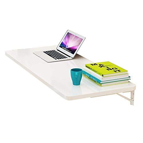 Aan de muur bevestigd bureau, laptop, standplaats inklapbare muur, schrijftafel, multifunctionele keuken, countertop-salontafel, meerdere kleuren naar keuze vrijgesteld 90 x 50 cm, wit