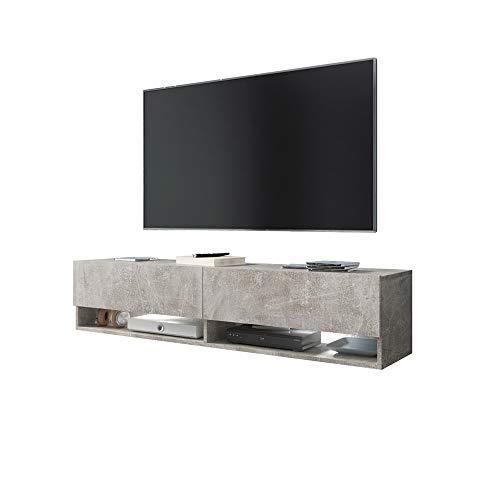 Wander – Fernsehschrank/Tv-Lowboard In Beton-Optik Matt Hängend 140Cm