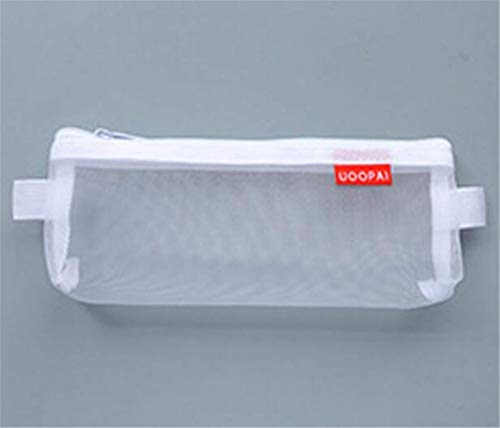Ogquaton Premium 1 Unidad. Bolsa de Red Transparente para Guardar cosméticos en el baño, práctica Bolsa de Viaje, Color Blanco, S práctica