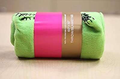 Lime Green Fleece Throw Blanket