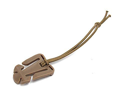 Tactical Gear Clip, Outdoor Tube Zaino Gestione cinghie con corda elastica, Pratico Zaino Accessori Escursionismo di ZENDY (Pack of 10)(Marrone)