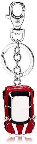 MSHOLY Llavero Colgante Llaveros De Coche Rojo Llavero De Cristal Llaveros para Mujer Regalo Colgante De Joyería (Color : Red, Size : Talla única)