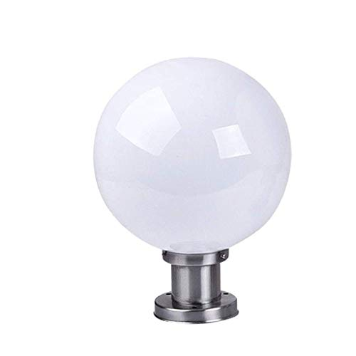 XYZMDJ Pillaricht voor buiten, waterdichte zuil schijnwerper omheining ronde schaduw wandlamp Villa terrasdeur kolom sferische lichtzuil Light Pot