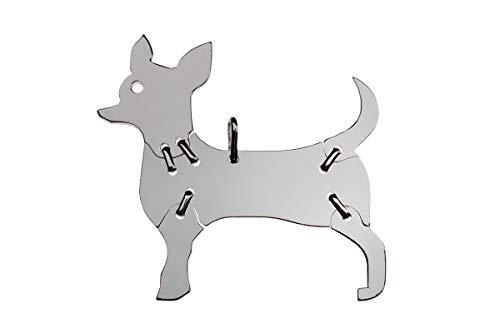 CHIHUAHUA-1 - Colgante de animales para perro (tamaño mediano, plata de ley 925, 006 cm)