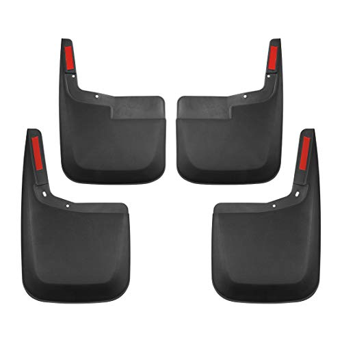 Teccom Mud Flaps Splash Guards for 2015-2019 Ford F150 2015-2019 Without Wheel Lip Molding Front and Rear 4psc Set ABS Molded