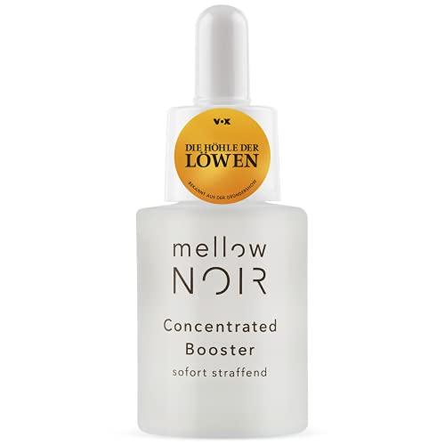 mellow NOIR Concentrated Booster | SOFORT STRAFFEND | vegan, klimaneutral & clean | Hyaluron Gesichtsserum | 15 ml | zertifizierte Naturkosmetik | Augenserum | Serum zur Augenpflege & Gesichtspflege
