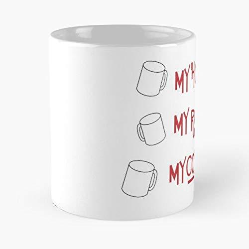 Out Knives House Murder My Mystery Coffee Rules The Best Taza de café de cerámica blanca de 315 ml