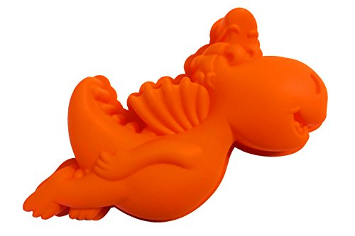 Drache Kokosnuss Backform, Silikon, orange, 30 X 15 X 4 cm
