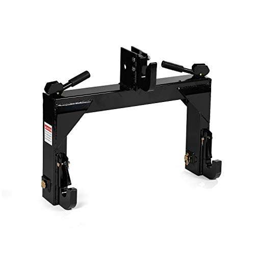 Titan Attachments 3-Point Quick Hitch fits Cat 1 & 2 Tractors Easily Adjustable