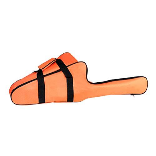 MOVKZACV Bolsa de transporte para motosierra, bolsa de almacenamiento para motosierra, bolsa de almacenamiento resistente al agua, tela Oxford portátil (naranja)