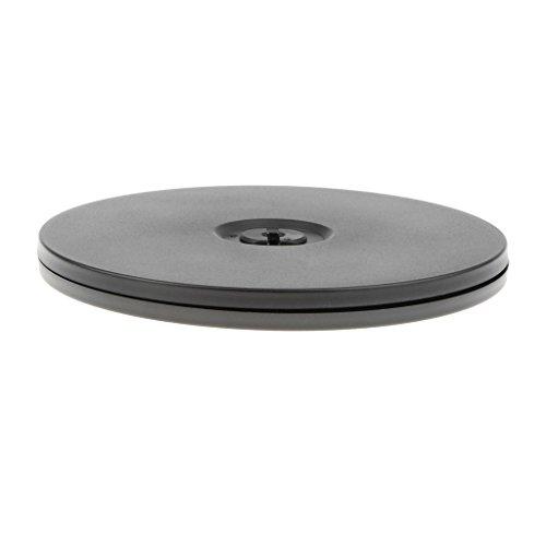 D DOLITY Drehteller Rotierenden Display-Ständer aus Kunststoff, Durchmesser: 3 Zoll / 4 Zoll / 5 Zoll / 5,5 Zoll / 6 Zoll - Schwarz, 5,5 Zoll