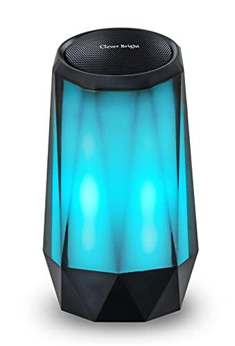 Altavoz Bluetooth Portátil Inalámbrico Estereo con Luz, Wireless Speaker con Audio HD Altavoz de Doble Controlador Integrado, Bluetooth 4.2, USB, Llamadas Manos Libres y TF Tarjeta
