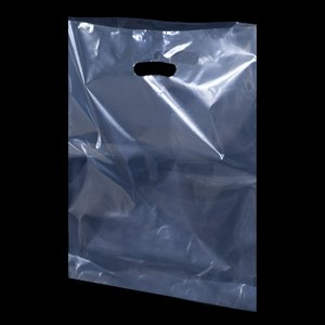 Borse sacchetti in plastica trasparente 38cm x 46cm + 7cm (100 borsine)