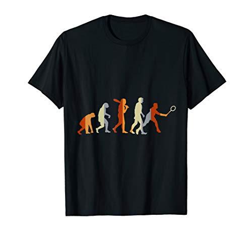 Federballspieler Sport Geschenk Evolution Badminton T-Shirt