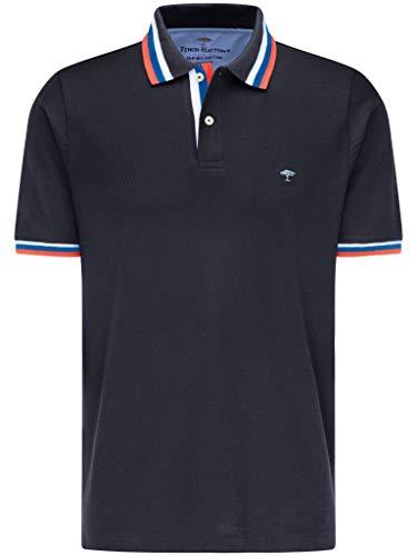 FYNCH-HATTON Herren Poloshirt Kurzarm - aus Premium Supima Baumwolle - Polohemd mit Farbstreifen am Polokragen und Ärmeln