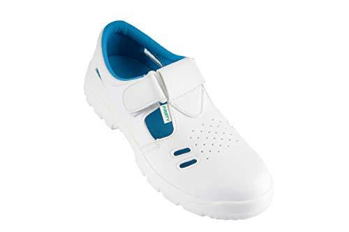 ARDON S1 VOG Arbeitsschuhe Sandale Küchenschuhe Kochschuhe Weiß Koch Schuhe mit Schutzkappe (43)