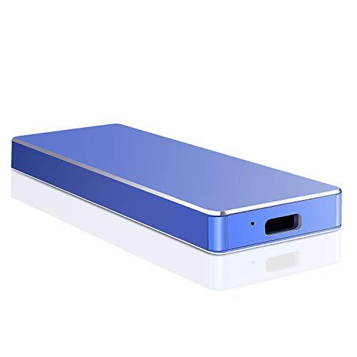Externe Festplatte 2tb, USB 3.1 Externe Festplatte Backups HDD Tragbare für PC, Xbox One, Desktop, Laptop, Xbox 360.(2TB,Blau)