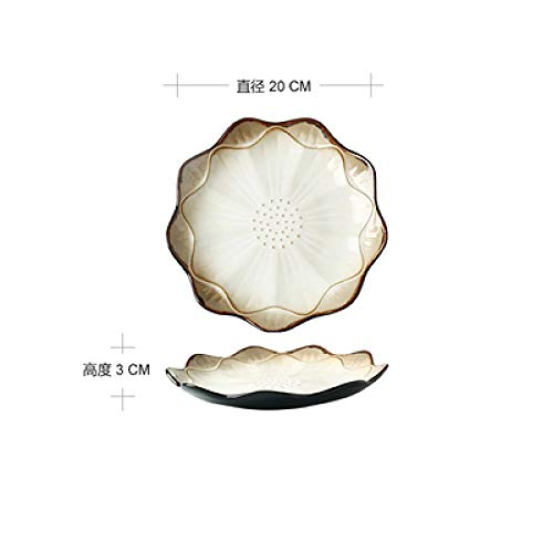 Teller Keramikplatte Haushalt Frühstück Teller Gerichte Persönlichkeit Kreative Steak Teller Salatschüssel Western Food Pasta Teller Geschirr Platea
