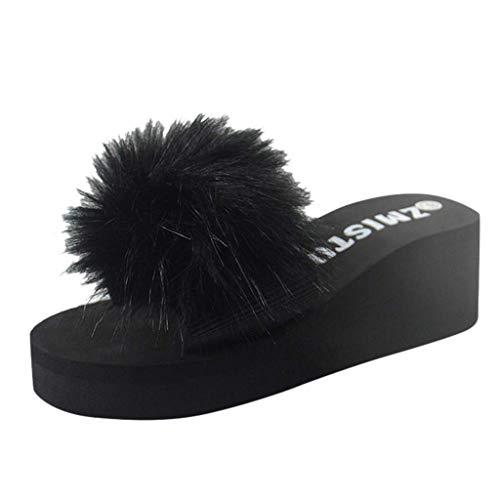 HUADUO Sandals for Women with Cushion Bounce Footbed- Womens Flip Flops Thong Sandal Flat Summer Beach Rain Shoes