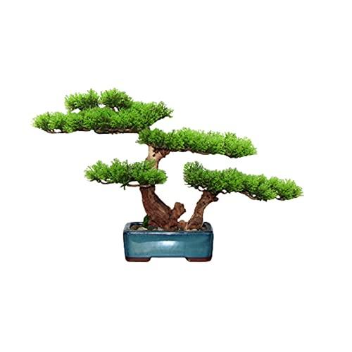 YUXINYAN Decorar 11 Pulgadas Bonsai Artificial Bonsai Boicing Pine Tree, Simulation Potted Plant Creativity Bonsai, Pot del árbol Falso Se USA para la Sala de Estar Adornos