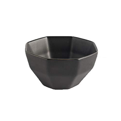 Diamantschale Keramik Haushaltsschale Quadratische Schüssel Reisschale Matte Keramikschale