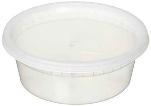 Reditainer Deli Food Storage Containers with Lids, 8-Ounce, 40-Pack