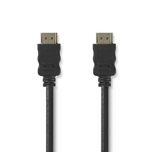 KnnX 28400 | Cavo HDMI ad alta velocità | Lunghezza: 50 cm | Quantità: 1 | supporta Ethernet, 4K, 3D, Deep Color, Canale di Ritorno Audio ARC, Video | Nero