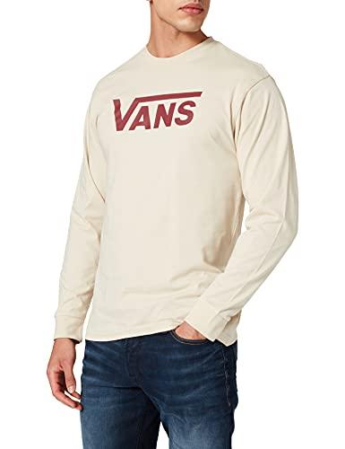 Vans Classic LS Camiseta Manga Larga, Avena-Granada, XL para Hombre