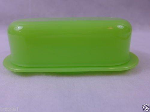 Tupperware Open House Oval 1/4 lb Butter Dish Sheer Green (0.25 Lb Butter Dish)
