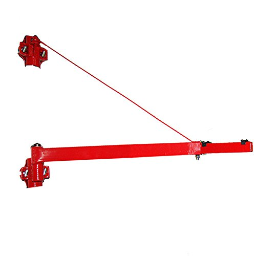 Zwenkarm oplegger tot 250 kg galgen 110 cm lengte voor kabellier flessenkabel elektrische kabel vierkant steigerbevestiging wandhouder