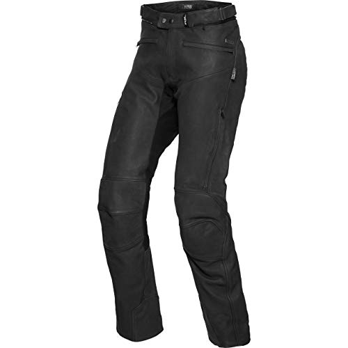 FLM Motorradhose Touren Nubuk Lederhose 1.0 schwarz 26 (52 kurz), Herren, Tourer, Ganzjährig