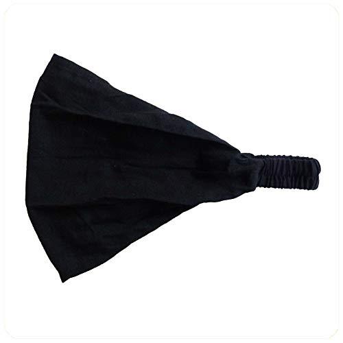 Haarband Stirnband Kopfband Kopftuch Schweißband Haarschmuck Sport Fitness Yoga Mütze (Schwarz)