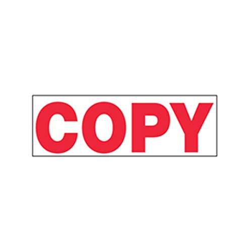 Stamp-Ever Pre-Inked Message Stamp, Copy, Stamp Impression Size: 9/16 x 1-11/16 Inches, Red (5946) Photo #2