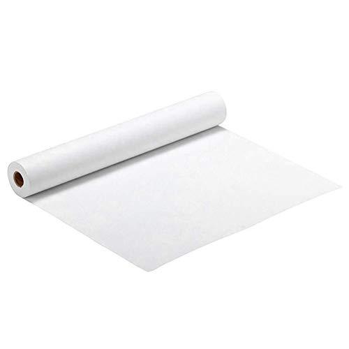 KAVAVO Weiße Papierrolle, 1,8 × 17,3 Zoll, weiße Handwerkspapierrolle, ideal für Staffeleipapier, Bulletin Board-Papier, Wandkunst, Geschenkpapier.(Paper)