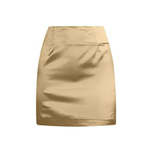 Falda para mujer mini bodycon sólido sexy mini faldas de algodón corto de seda para mujer,...