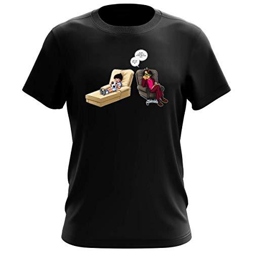 T-Shirt Homme Noir Parodie Olive et Tom - Captain Tsubasa - Olivier Atone - Son Meilleur ami.!? (T-Shirt de qualité Premium de Taille L - imprimé en France)