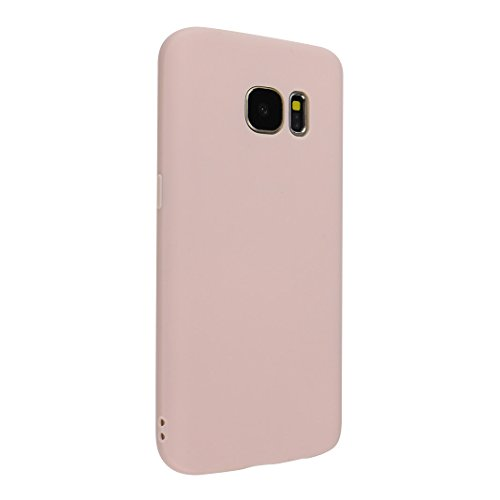Asnlove Galaxy S7 Hülle Dünn Silikon, Handy Schutzhülle für Samsung Galaxy S7 Hülle TPU Silikon Backcover Case Handytasche Einfarbig Telefon-Kasten Tasche Schutz Cover Design Rose
