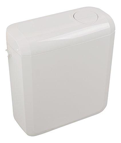 Sanitop-Cisterna de lujo   Plastico   2 cantidades de tecnología de lavado Con válvula de llenado extra silenciosa   3 litros o 6 - 7.5 litros   Cisterna   Inodoro, inodoro   Blanco