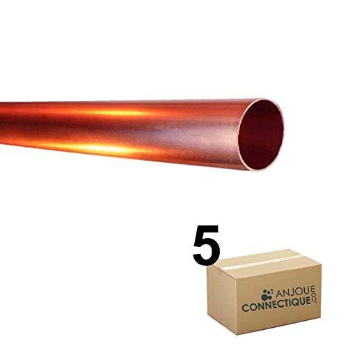 - Tube cuivre - Lot de 5 Tubes cuivre écroui Ø10x12 - barre de 4m