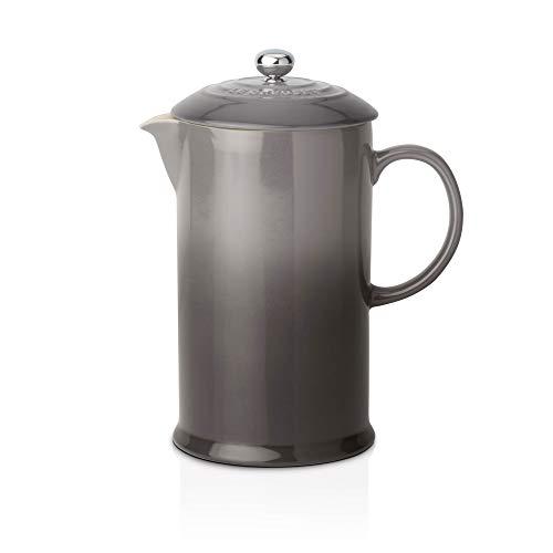 Le Creuset Kaffee-Bereiter/French Press mit Edelstahl-Presseinsatz, 800 ml, Steinzeug, Flint