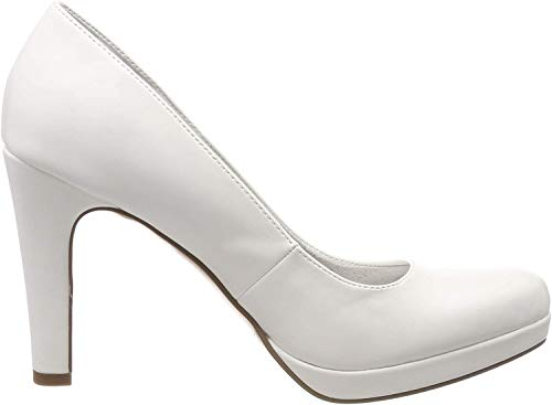 Tamaris Damen 1-1-22426-22 Pumps, Weiß (White MATT 108), 42 EU
