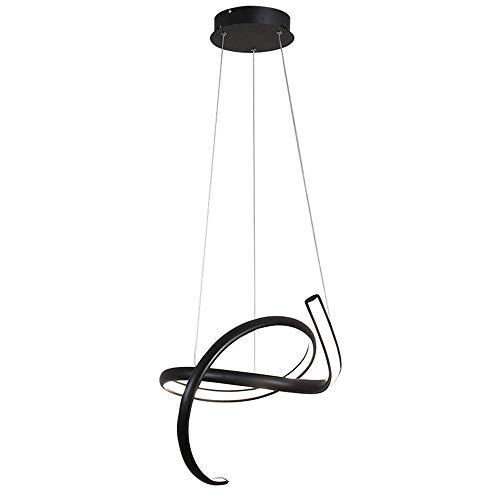 Mooie lampen/hanglampen, modern, creatief, ronde ring, zwart design, eettafel, lamp, silicagel en acryl, woonkamer, hanglamp, eetkamer