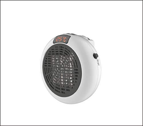 Mesa Living Insta Heater | 600W | Heizlüfter | Elektrische Heizung | inkl. Fernbedienung | Wandsteckdose Heizung mit Einstellbarer Timer Digitalanzeige |