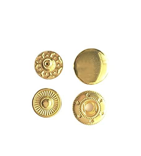 Accesorios de costura Botón redondo de metal redondo de 50set para bolsas de ropa de cuero Snap Fastner Press Studs Kit Herramienta de herramienta Instalador Botones de plata 831/633/655/2011/203 para